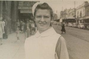 Photo of Marjorie in nurses uniform